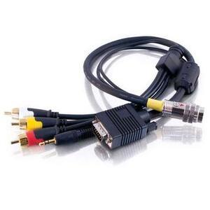 Quiktron 2212-42323-002 1.5ft HD15 Male 3.5mm Stereo Audio Flying Lead