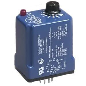 R-K Electronics TUB-115V-2 Timing Relay, Multifunction, Multi-Time, 115VAC Supply, 11-Pin, 10A