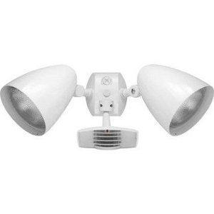RAB STL110HBW Flood Light, Halogen, Bullet, w/ Motion Sensor, 150W, White