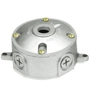 "RAB VXJ1 Weatherproof Round Box, Diameter: 4"", Depth: 2-1/4"", Aluminum"
