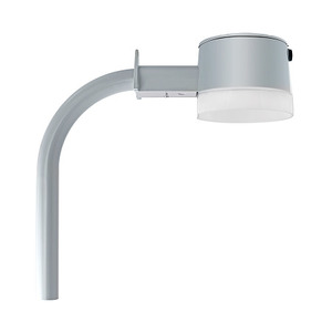 RAB YBLED26/ARM Barn Light, LED, 26W, 120V, Silver Gray