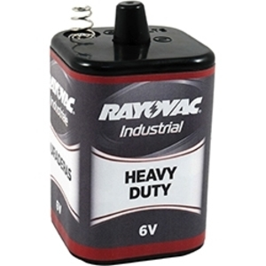 Rayovac 6V-HD Heavy Duty Industrial Battery, 6V, Spring Terminals