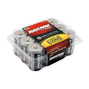 Rayovac ALD-12PPJ 1.5V D Battery - 12-Pack
