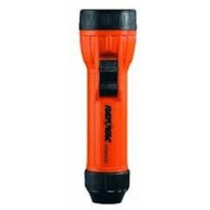 Rayovac IN2-MS Industrial Safety Flashlight, Orange, 2-Cell, D Size
