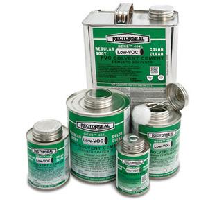Rectorseal 55904 PVC Cement, Clear, 1 Pint