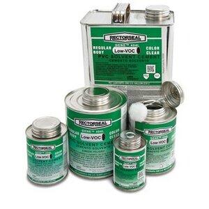 Rectorseal 55906 PVC Cement, Clear, Size: 1 Quart