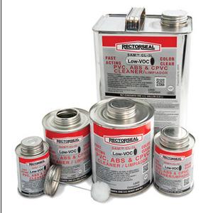 Rectorseal 55934 PVC Solvent, Multi-Purpose Cleaner, Clear, 1 Quart