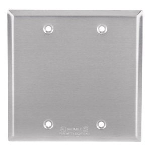 Red Dot 2CCB Weatherproof Cover, 2-Gang, Type: Blank, Aluminum