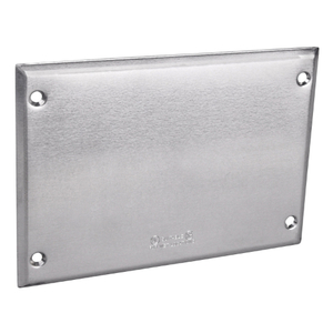 Red Dot 3CCB Weatherproof Cover, 3-Gang, Vertical, Type: Blank, Silver, Die Cast Aluminum