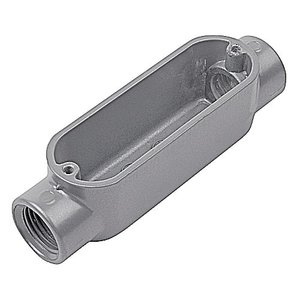"""Red Dot AC-1-RD Conduit Body, Type: C, Size: 1/2"""", Material: Die Cast Aluminum"""