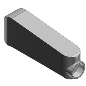 """Red Dot MALB-5 Mogul Pulling Elbow, Type LB, Size 1-1/2"""", Cover/Gasket, Aluminum"""