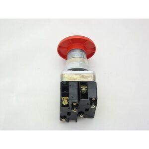 "Rees 40102-202 Push Button, Push-Pull, Mushroom, 2"", Red Head, 1NO/1NC Contact"
