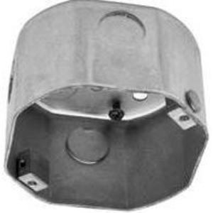 "Reiker 44400 4"" Octagon Ceiling Box, 2-1/2"" Deep, KOs, Metallic"
