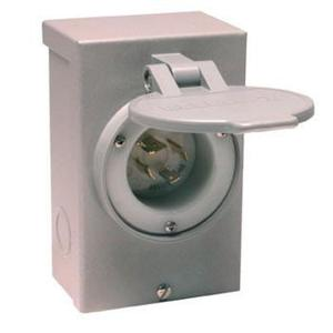 Reliance Controls PB30 Power Inlet, 30A, 120/240VAC, NEMA L14-30P, Recessed Inlet, NEMA 3R