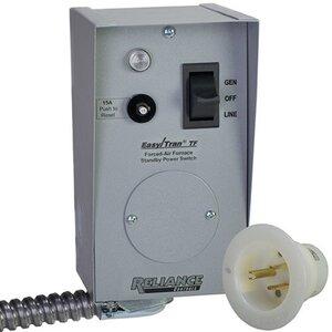 Reliance Controls TF201W Transfer Switch, 20A, 120VAC, 1Ph, NEMA 1, Surface