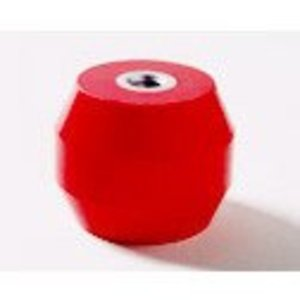 "Rich Plastic Products R-1000 Electric Insulator, Circular, 3/8"" Bolt Hole, Polyester, Red"