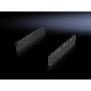 Rittal 8601080 Trim Panels, Base/Plinth, Sides, 100mm, Black, Steel, 1 Pair