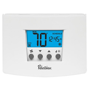 Robertshaw RS6110 Thermostat, Programmable, 7 Days, 24V, Wall Mount