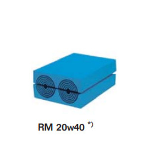 Roxtec RM00120401000 Sealing Module, (2) Cables/Pipes, Size: 20 x 40 mm, Non-Metallic