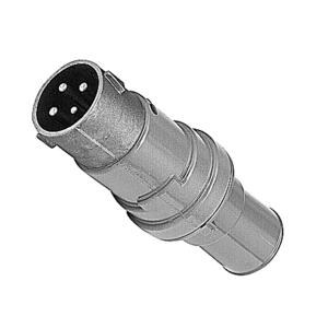 "Russellstoll 8418 Pin & Sleeve Plug, 60A, 480V, 3P4W, 1"" Hub"