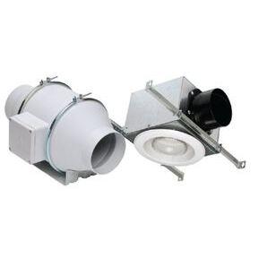 "S&P KIT-TD100XH In-Line Fan Kit, 4"" Duct, 135 CFM, Halogen Light"