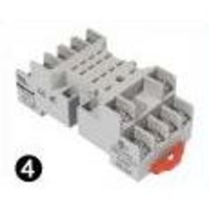 SE Relays 70-461-1 Mounting Socket, 14 Blade, Screw Terminals, DIN Rail Mount