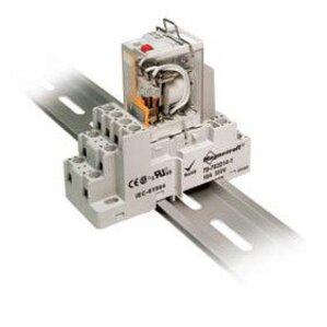 SE Relays 70-784D14-1 Mounting Socket, 14 Blade, Screw Terminals, DIN Rail Mount