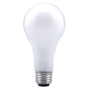 SYLVANIA 150A23/RS-130V Incandescent Bulb, Rough Service, A23, 150W, 130V, Frosted