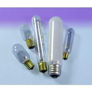 SYLVANIA 15T6-130V Incandescent Bulb, T6, 15W, 130V, Clear
