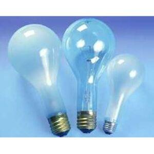 SYLVANIA 202PS25/CL-125V Incandescent Bulb, PS25, 202W, 125V, Clear