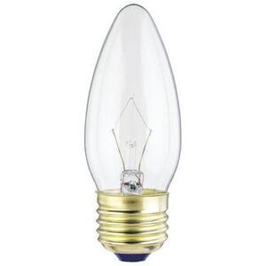 SYLVANIA 40B11C/HAL/CL-120V Halogen Lamp, B11, 40W, 120V