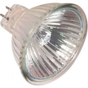 SYLVANIA 50MR16/IR/FL35/C-12V Halogen Lamp, MR16, 50W, 12V, FL35
