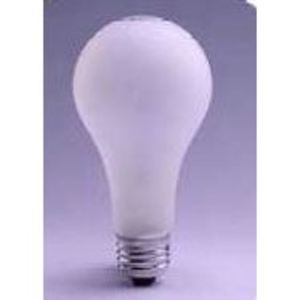 SYLVANIA 60A/RS/RP/1-120V Incandescent Bulb, Rough Service, A19, 60W, 120V, Frosted