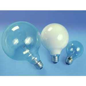 SYLVANIA 60G40/RP-120V Incandescent Bulb, G40, 60W, 120V, Clear