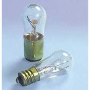 SYLVANIA 6S6/CL30V Miniature Incandescent Bulb, Indicator, S6, 6W, 30V, Clear