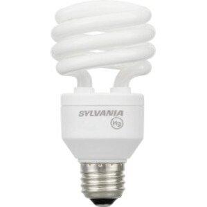 SYLVANIA CF23EL/SPIRAL/827 Compact Fluorescent Lamp, Spiral, 23W, 2700K, Medium Base