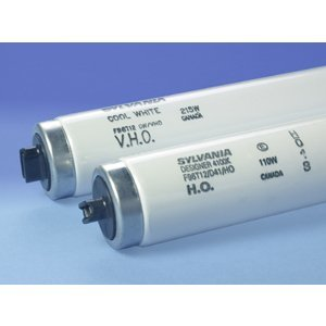 "SYLVANIA F96T12/CW/VHO Fluorescent Lamp, Very High Output, T12, 96"", 215W, 4200K"