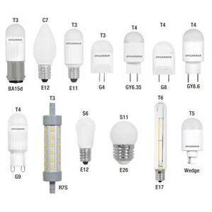 SYLVANIA LED1C7F830BL LED Specialty Lamp, 1W, C7, 3000K, 30 Lumen, 120V, Frosted
