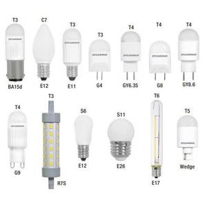 SYLVANIA LED2G8F830BL LED Specialty Lamp, 2W, T4, 3000K, 160 Lumen, 120V, Frosted