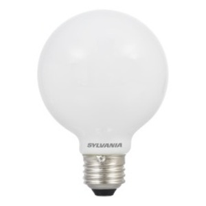 SYLVANIA LED4.5G25/DIM/F/830/GL/RP Dimmable LED Lamp, G25, 4.5W, 120V, Frosted