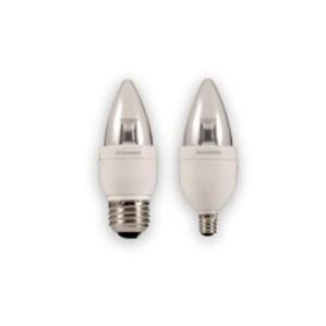 SYLVANIA LED4B10C/BLUNT/DIM/827 LED Lamp, Dimmable, B10, 4W, 120V, Candelabra Base