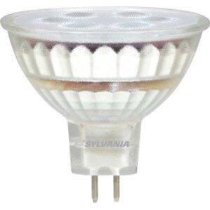 SYLVANIA LED6MR16/DIM/830/NFL25/GL/RP LED Lamp, MR16, 6W, 12V, 3000K, 450 Lumen