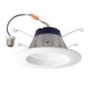 "SYLVANIA LEDRT56700930FL80 LED Recessed Downlight Kit, 5""/6"", Medium Base, 3000K, 700 Lumens, Replaces BR30"