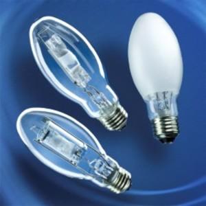 SYLVANIA MP50/U/MED Metal Halide Lamp, Pulse Start, ED17, 50W, Clear