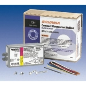 SYLVANIA QTP2X26/1X42/32CF/UNVDS Electronic Ballast, Compact Fluorescent, 2-Lamp, 26W, 120-277V