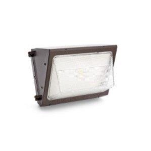 SYLVANIA WALPAK2N/075UNV750/NC/BZ LED Wallpack, 75W, 120-277V, 5000K, Non-Cutoff, Bronze