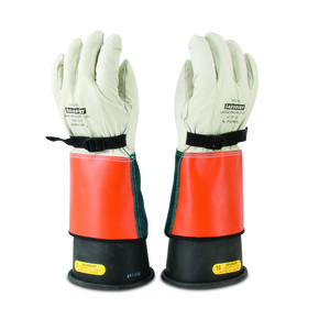 Salisbury ILP5S/9 Arc Flash Cowhide Gloves, Size 9/9.5