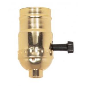 Satco 80-1002 3 Way Turn Knob Socket with Removable Knob