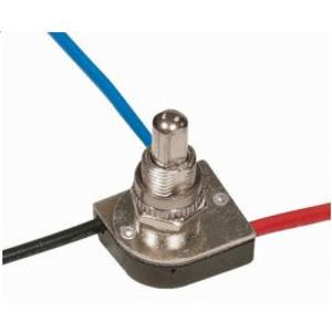 Satco 90-1679 3-Way Metal Push Switch, Metal Cushing, 2 Circuit, 6/3A, 125/250V