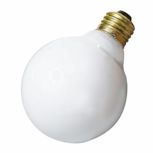Satco A3641 Incandescent Bulb, G25, 40W, 130V, Gloss White